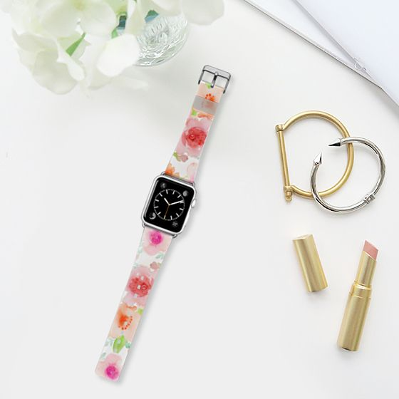 Spanish flowers - Pulsera Casetify, Casetify, #watercolour #flowers #apple #watch #band #strap #romantic #pink