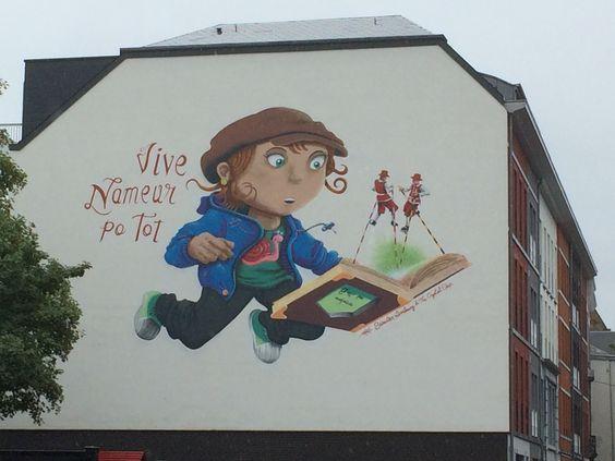 Namur, rue basse Marcelle. Street Art