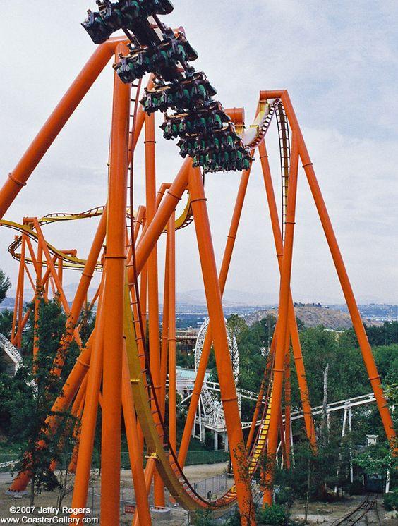 Tatsu, Six Flags Magic Mountain. Lets hang upside down for ...
