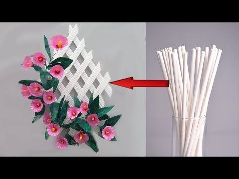 Hiasan Dinding Dari Sedotan Make Wall Hangings From Straws