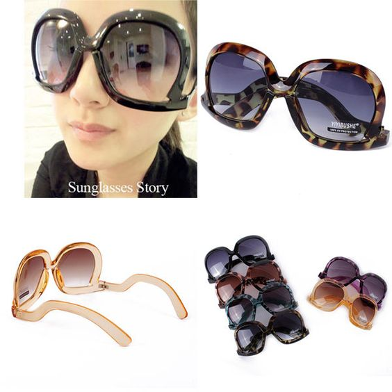 eyeglasses shades wnto  Women's Retro Oversized Cool Sunglasses Square Frame Bent Leg Shades  Eyeglasses #Unbranded #Square