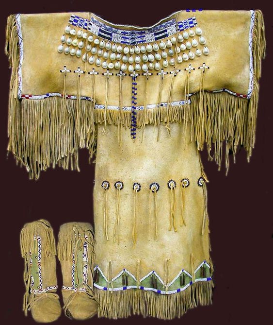 Comanche girl's dress - replica of dress made for Quanah Parker's daughter when she was around six years old.