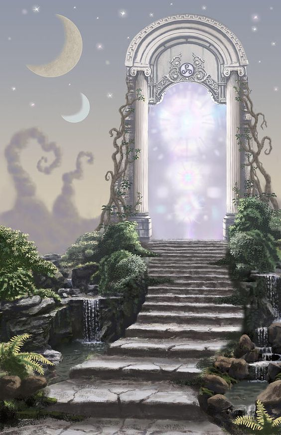 Fantasy Landscape Digital Art - Dream Door #1 by Joseph Kemeny