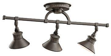 Kichler 3-Light Rail Light - Olde Bronze - transitional - Track Lighting - Whitmer's Lighting