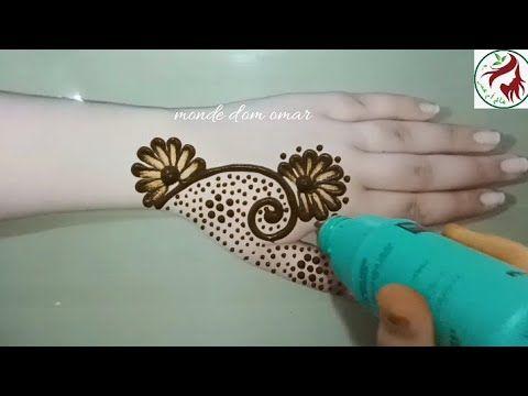 تعليم نقش الحناء للمبتدئات بقرورة البطدين رشمة جديدة وكتحمق وسهلة بزااف حملة ليتوصلي الى 100 الف Youtube Hand Tattoos Henna Hand Tattoo Hand Henna