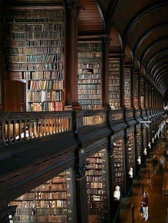 Library in Trinity College Dublin, Ireland. | Medi Villas