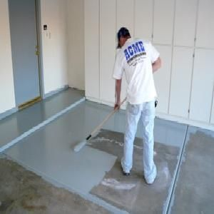 To add an artistic touch to your garage consider painting for How to degrease concrete garage floor