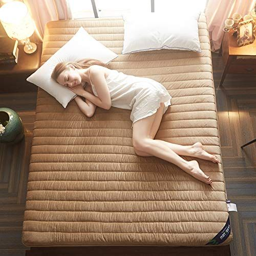Msm Quilted Thick Mattress Quilted Soft Comfort Solid Color Bedroom Living Room Floor Mat Futon Bed Roll Futon Bed Living Room Flooring Mattress Manufacturers