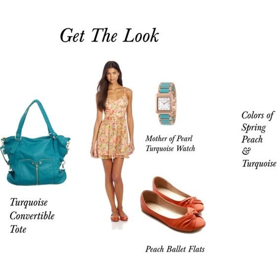 Peach and Turquoise Collection, women's fashion