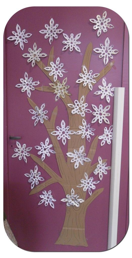 J'ai créer et coller sur la porte de la classe, un arbre en carton. Je trouvais que c'était un bon support pour des créations saisonnières et parler des différentes saisons comme sur les affichettes qui représentent Mino et MIna avec ce même arbre. Je...