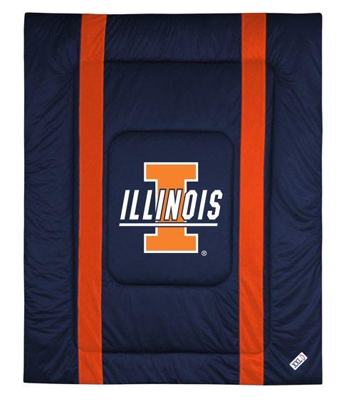 ATHLEZ - Illinois Fighting Illini Sidelines Comforter Full/Queen