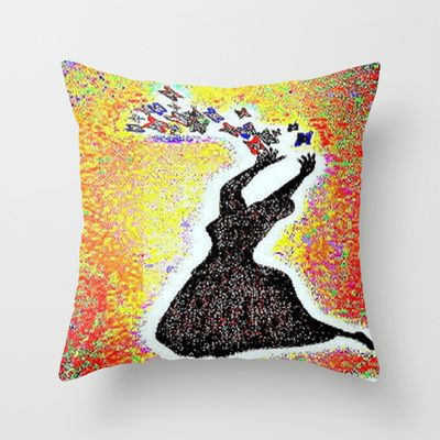 "It wasn't till I began to die that I began to live and ever sense my life explodes all the colors around me and I now enjoy them all. .... Throw Pillow  / Indoor Cover (16"" x 16"")    Christa Bethune Smith, Cabsink09 (cabsink09)  Death Can Wait by Christa Bethune Smith, Cabsink09  	 . $20.00"