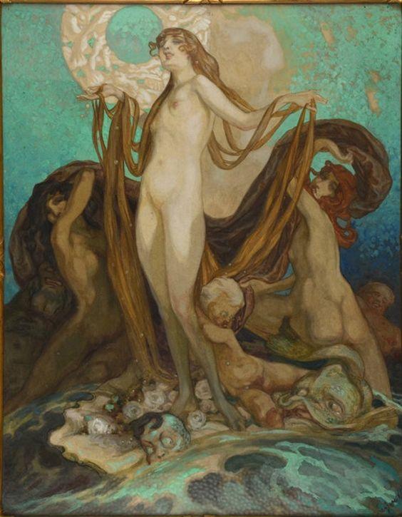 """skandaloseschonheit: """" Franz von Bayros : Vénus, 1900 """":"""