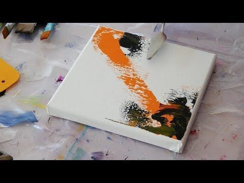 Abstract Painting Demo Demonstration Peinture Abstraite Acrylics