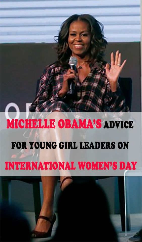 Michelle Obama's Advice For Young Girl Leaders On International Women's Day #michelleobama #obama #internationalwomensday #womensday