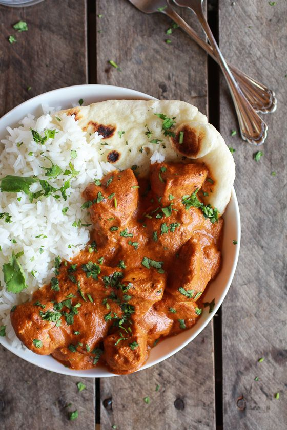 Easy Healthier Crockpot Butter Chicken - I've never tried butter chicken but this looks & sounds amazing! Gonna have to try it.