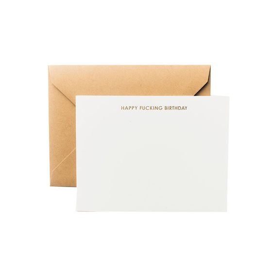 Terrapin Stationers Happy Fucking Birthday Unlined Notecards