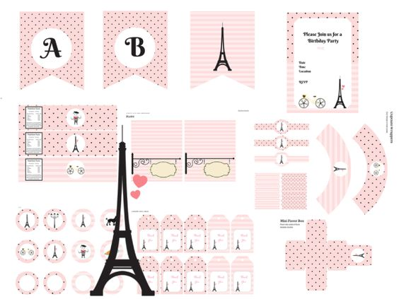 French Paris Love Printable
