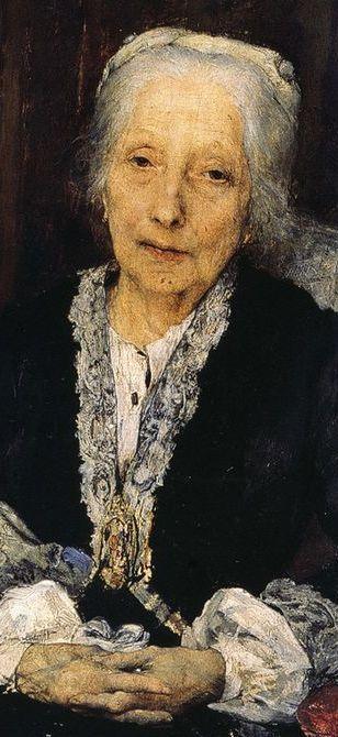 Portrait de Juliette Drouet, l'amant de la vie de Victor Hugo, un an avant sa mort, 1883 (détail) // Jules Bastien-Lepage (1848-1884)