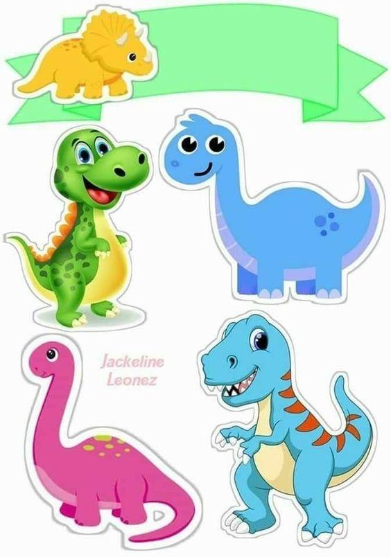 Topo De Bolo Dinossauro Para Editar E Imprimir Gratis With Images