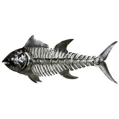 Fish Bones Metal Art - Croix des Bouquets