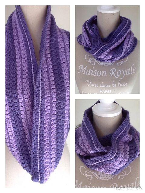 Free Crochet Pattern For Button Scarf : Ravelry: MaatjeKs Infinity scarf/cowl (Free crochet ...