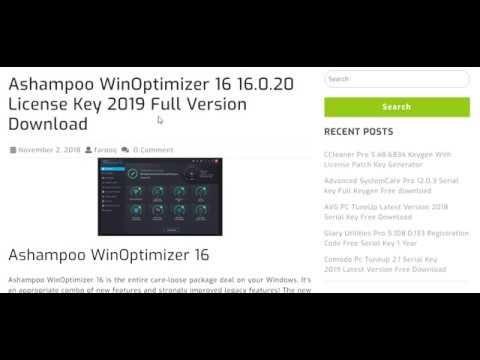 Ashampoo Winoptimizer 16 16 0 20 License Key 2019 Full Version
