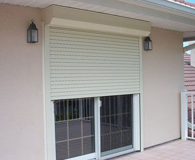 Roll down security shutters i like the way this looks shutters pinterest the o 39 jays for Roll up window shutters exterior