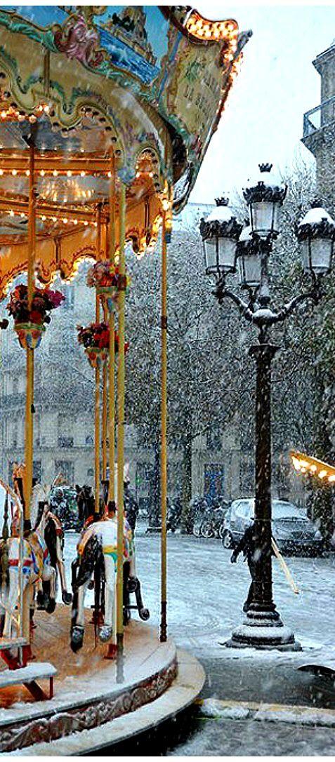 Winter in Paris.: