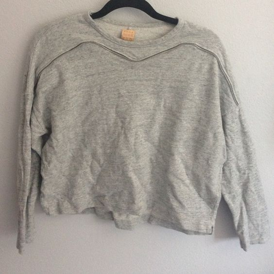 ZARA grey zipper sweater Size M grey zipper sweater Zara Sweaters Crew & Scoop Necks