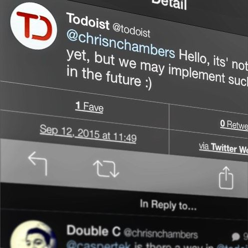 I love it when companies reply on Twitter. @todoistofficial