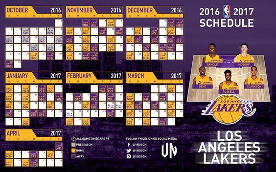 2016-17 NBA Schedules on Behance