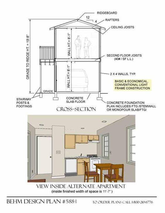 Garage plans garage and garage apartments on pinterest for 2 story workshop plans