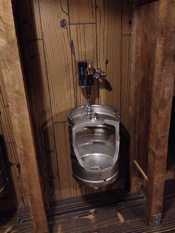 Men S Beer Keg Urinal Custom Made Urinal Made Out Of A