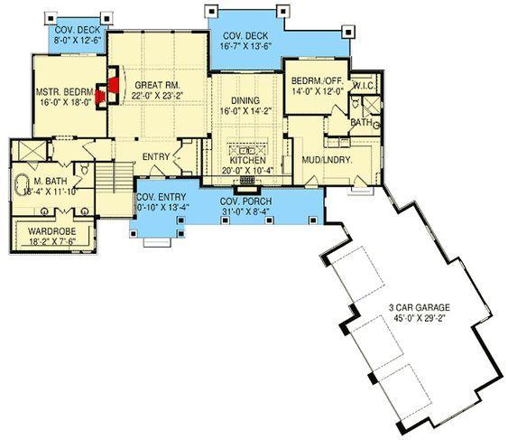Plan 290064iy Modern Prairie House Plan With Expansion Possibilities Prairie House House Plans Lake House Plans