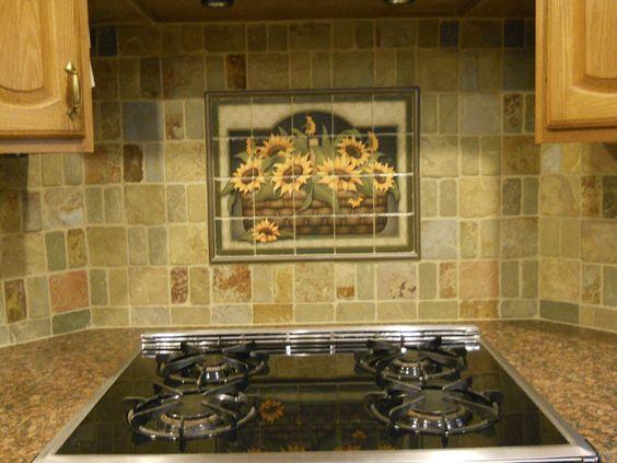 Kitchen Decorative Tiles Gerber Daisies I  Bmby Barbara Mock  Kitchen Backsplash