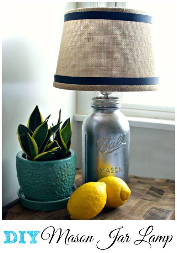 Turning a mason jar found at Goodwill for $1.99 into a mercury glass lamp.  | chatfieldcourt.com