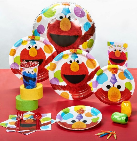 elmo birthday party | Sesame Street Elmo Party Standard Pack