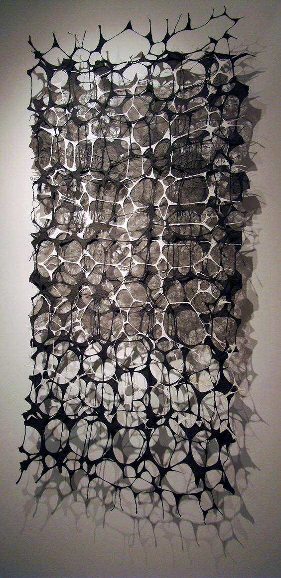 Jiyoung Chung, Whisper-Romance: Light, prox. 25 in x 62.5 in, One-of-a-kind Joomchi, hand grinded oriental ink dyed handmade paper, 2012