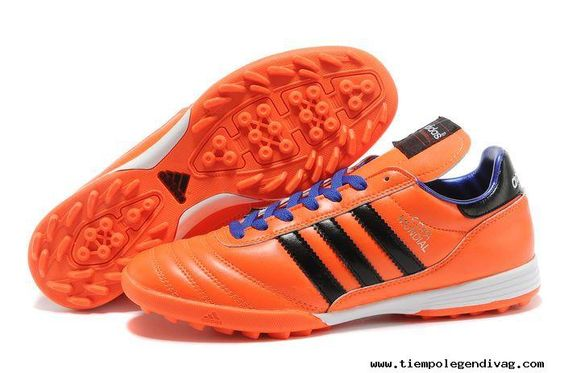 Orange Blue Soccer Shoes 2014 Brazil World Cup Adidas Copa Mundial TF 2013 Soccer Cleats