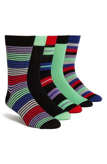 Topman Stripe Socks (5-Pack) | Nordstrom