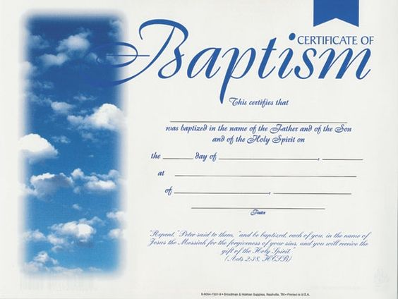 Free baptismal certificates template google search for Baptism class certificate template