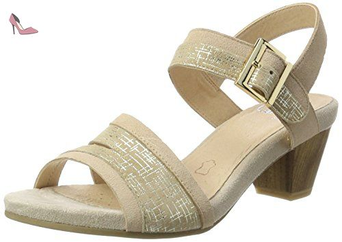 24551 - Sandales Bout Ouvert - Bout Ouvert - Femme - Blanc (Offwhite Na.co) - 38 (UK 5)Caprice VNWQla