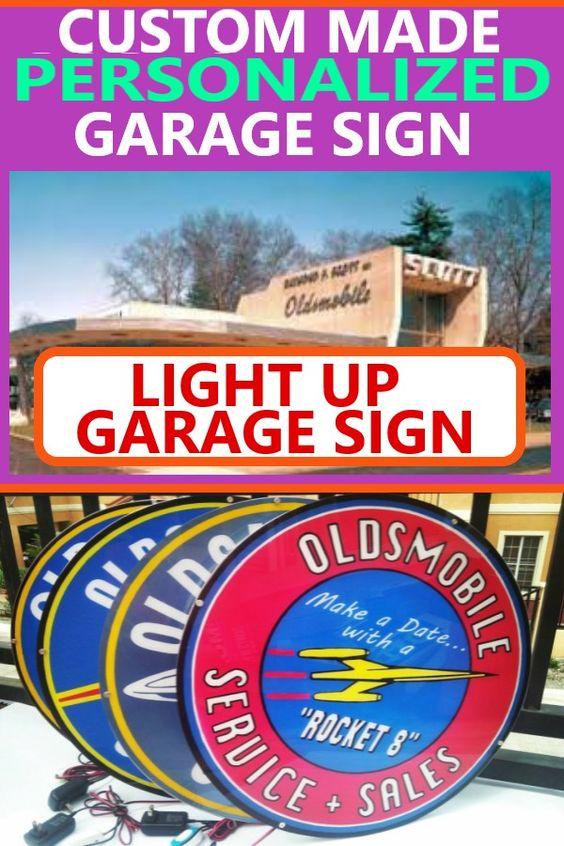 Ultimate Garage Decor Lighted Man Cave Sign Car Guy Gift Idea Lighted Oldsmobile Sign In 2020 Custom Business Signs Oldsmobile Light Up Signs