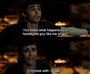 21 jump street movie quote.  It rhymes with grape!
