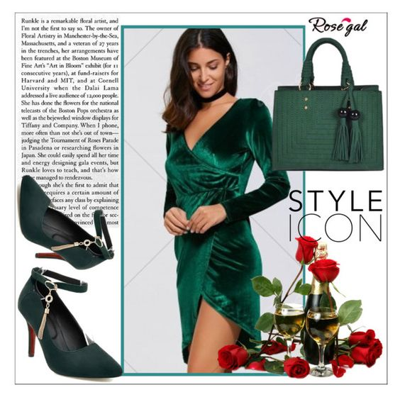 """""""Rosegal"""" by ena-ena ❤ liked on Polyvore featuring GREEN and rosegal"""
