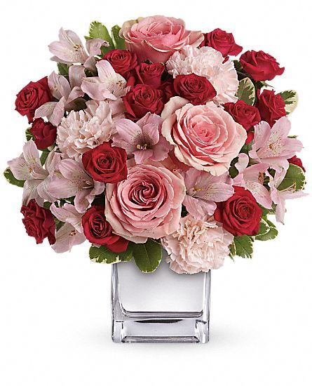 Teleflora's Love That Pink Bouquet with Roses Flowers:
