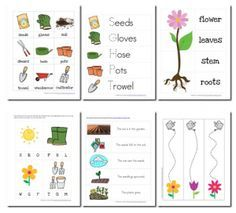 printable pack about gardening pre-k. Perfect for our spring garden focus! 4/1-5