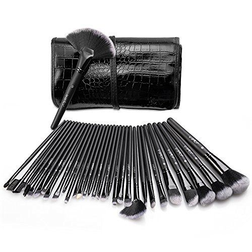 Make Up Brushes, USpicy Makeup Brushes Cosmetics Professional Essential 32-Piece Make Up Brush Set Kits with Travel Pouch, http://www.amazon.co.uk/dp/B00UJ1401A/ref=cm_sw_r_pi_awdl_x_5TfZxbBDBHKC8