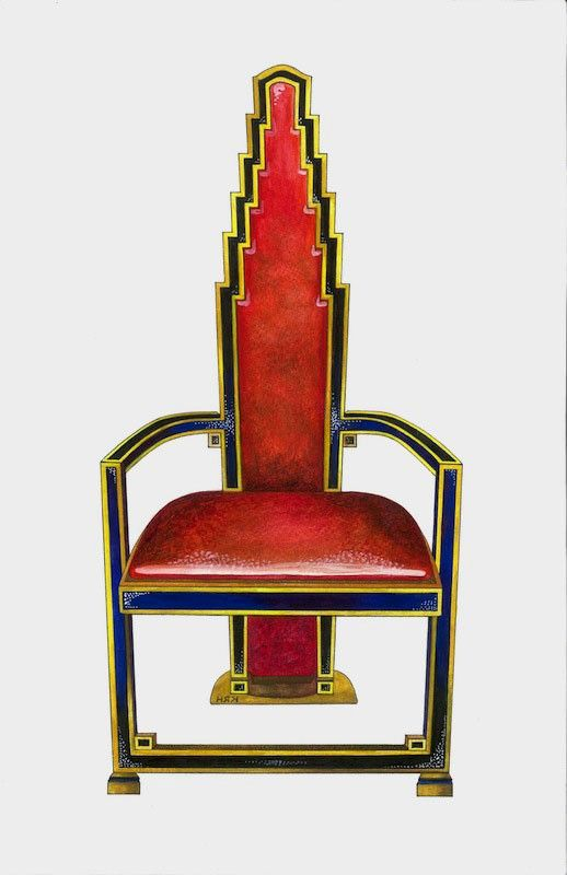 this chair is art deco because the style of the back looks a lot like the art deco furniture style art deco armchair